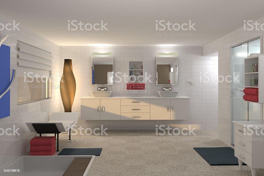 modern bathroom illustation stock photo