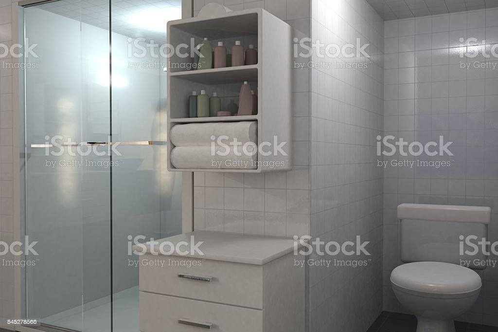 modern bathroom illustration stock photo
