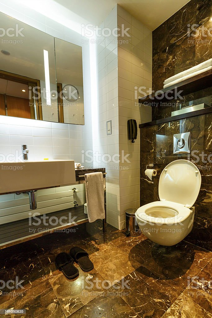 Modern bathroom in luxury hotel royalty-free stock photo