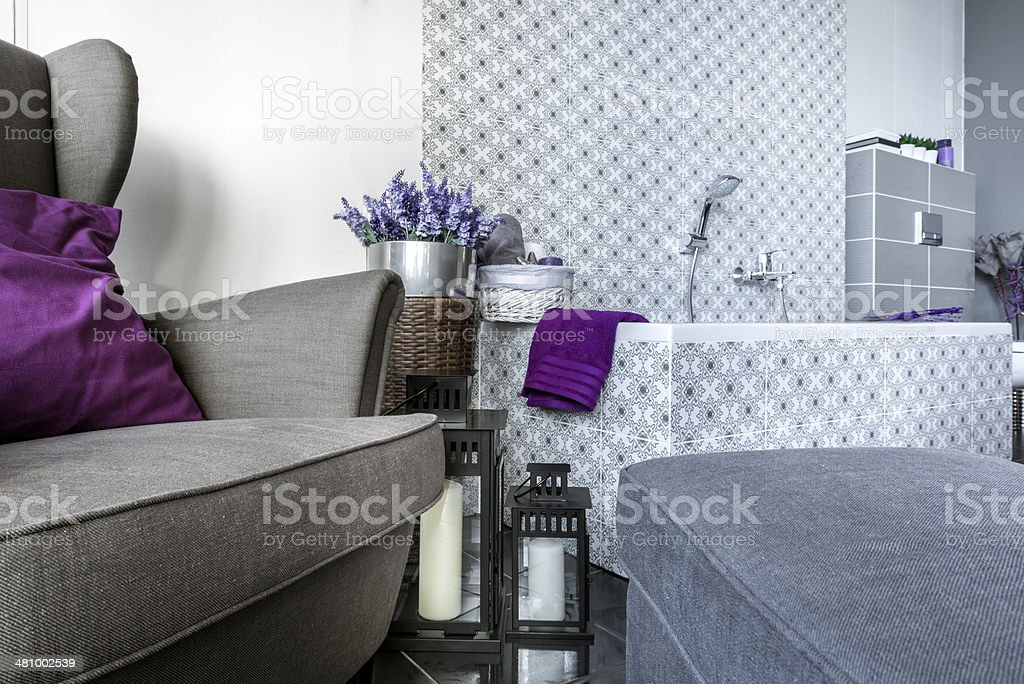 Modern bathroom interior design stock photo