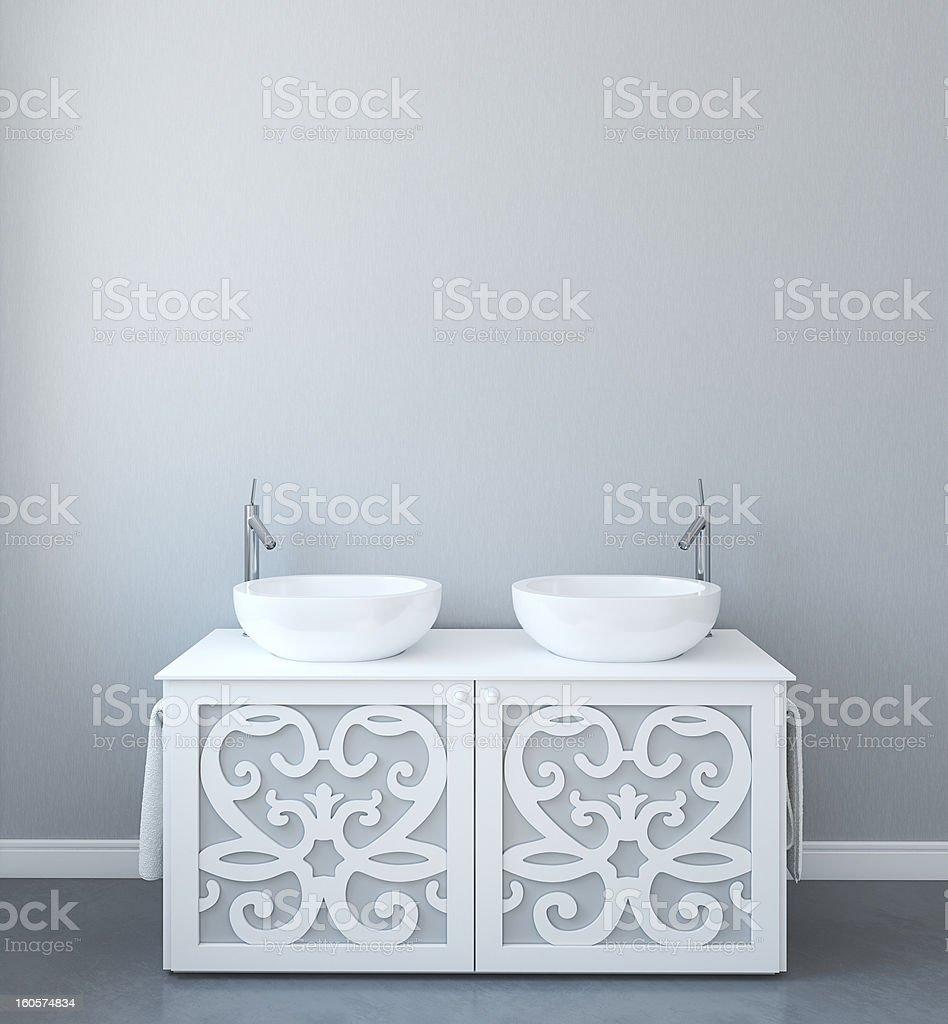 Modern bathroom interior. royalty-free stock photo