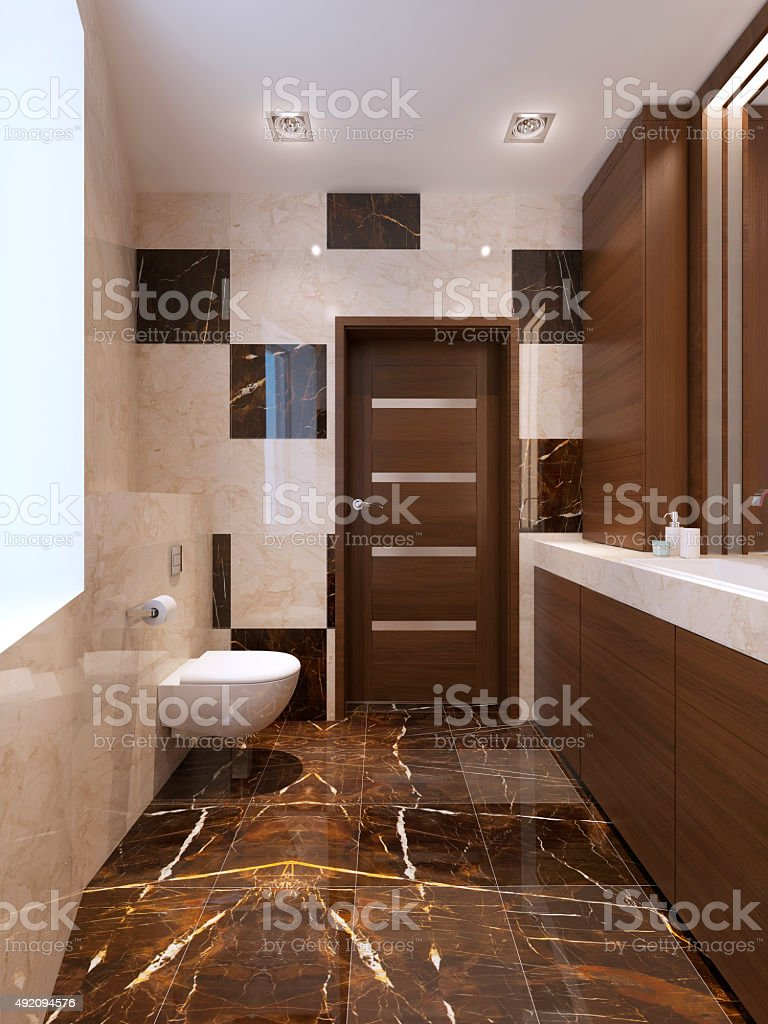 Modern bathroom interrior stock photo