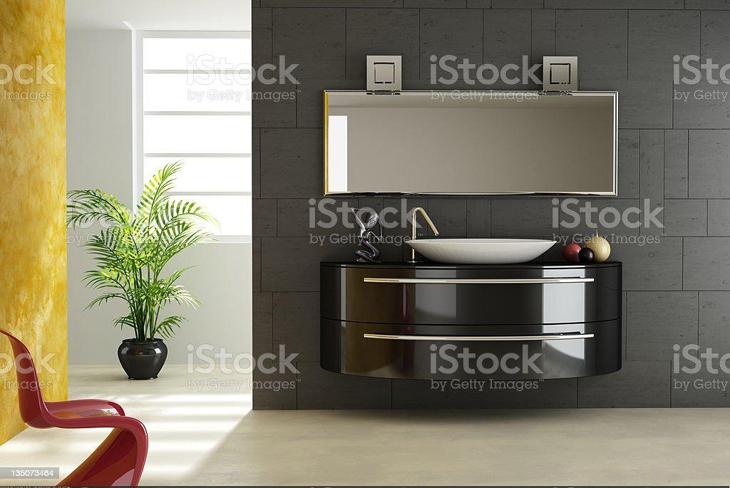 Modern bathroom. royalty-free stock photo