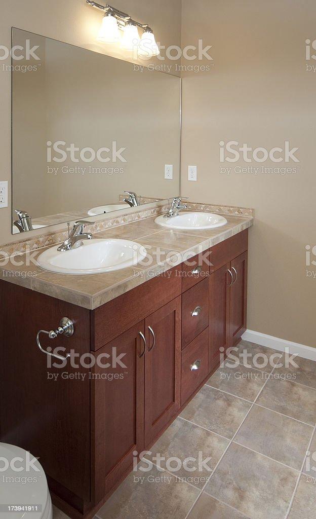 Modern bathroom sink royalty-free stock photo