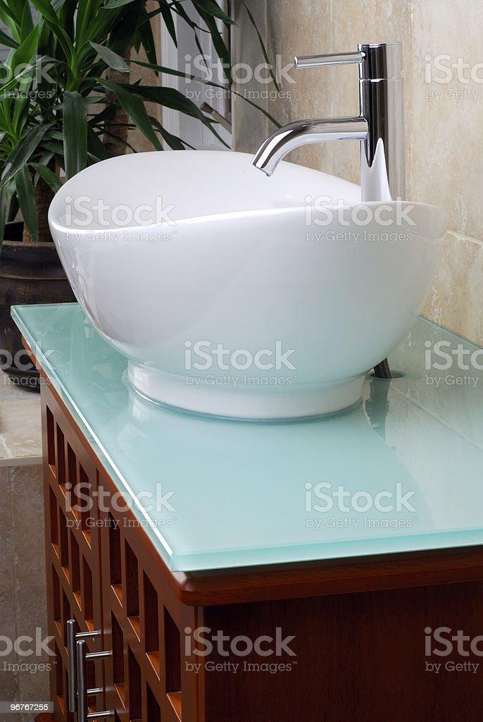 Modern Bathroom Vanity Sink royalty-free stock photo