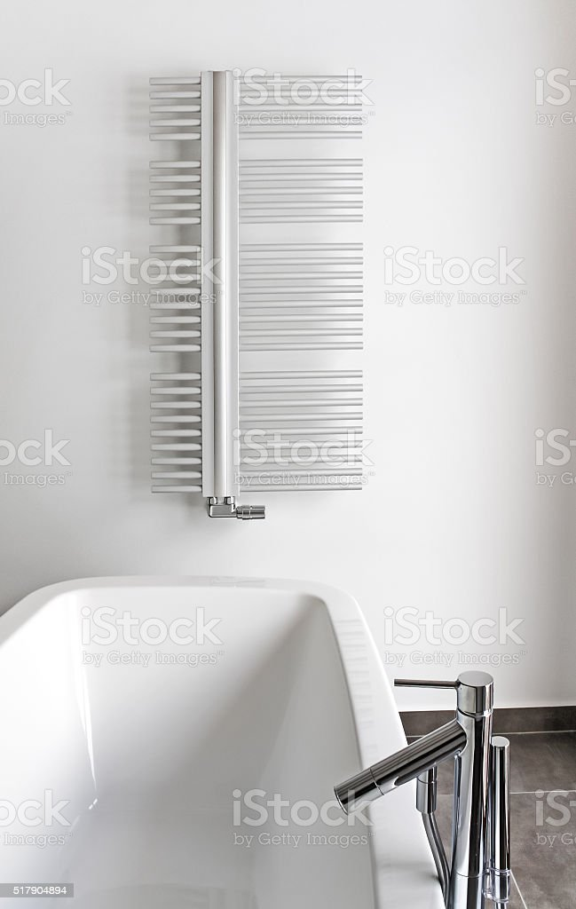 modern bathroom with bath stock photo