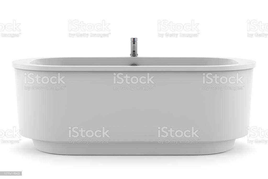 modern bathtub isolated on white background stock photo
