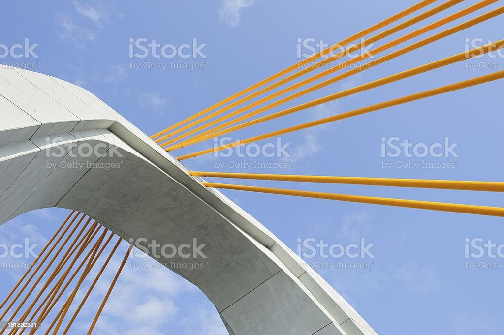Modern Bay Bridge royalty-free stock photo