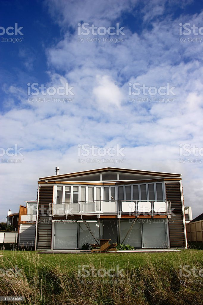 Modern Beach front House stock photo