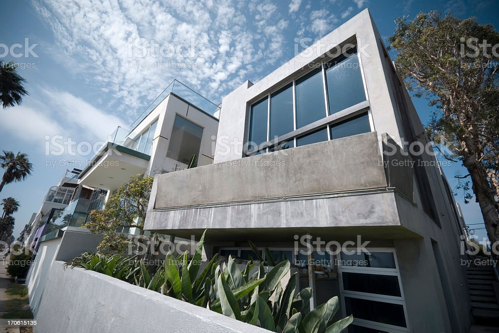 Modern Beach House stock photo