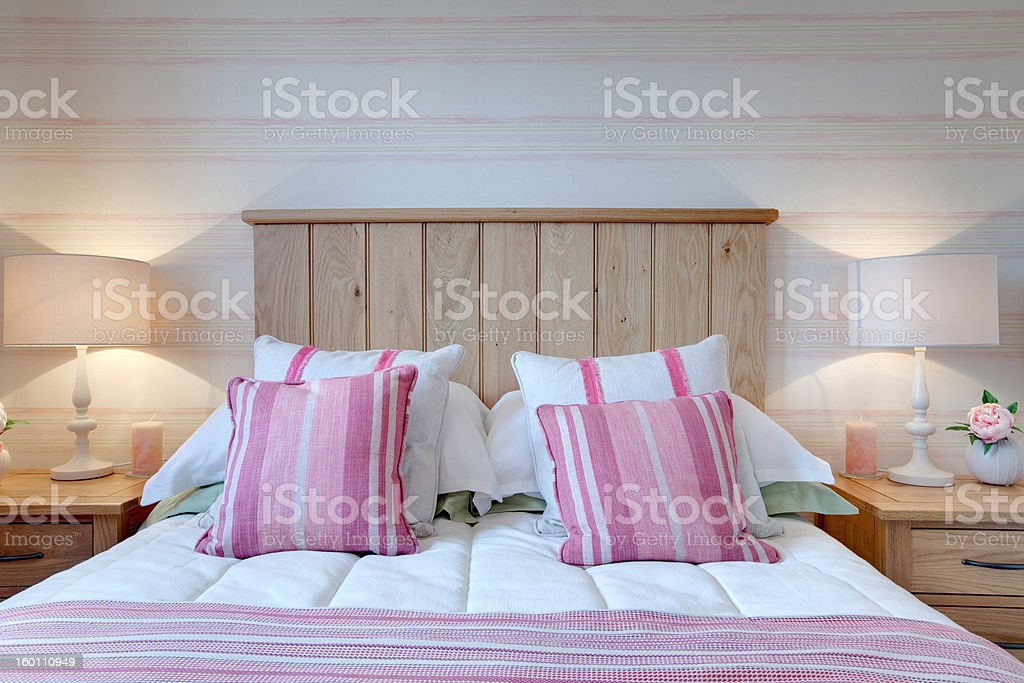Modern Bed stock photo