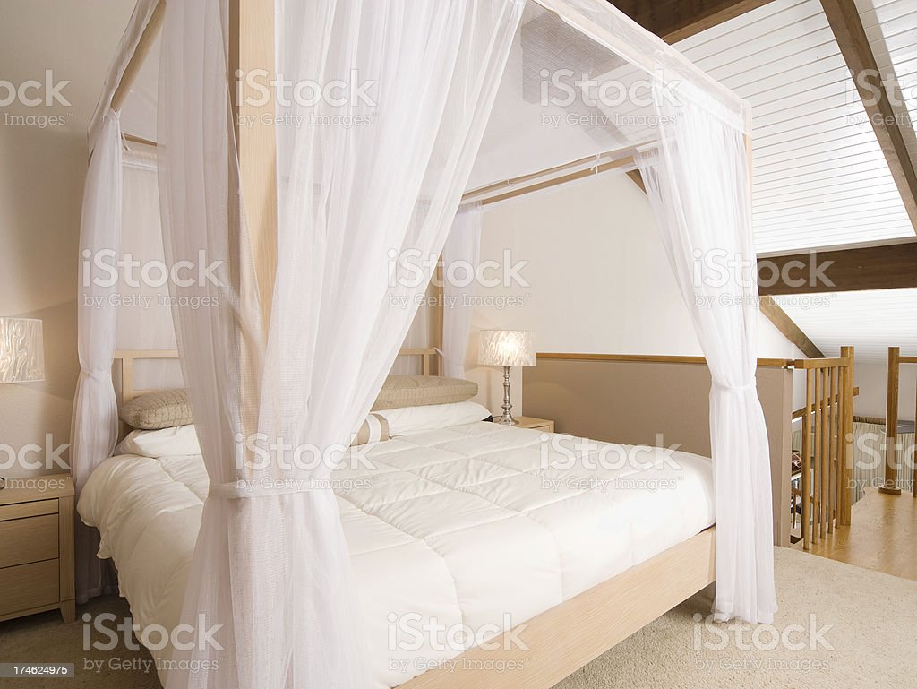 Modern Bed Room royalty-free stock photo