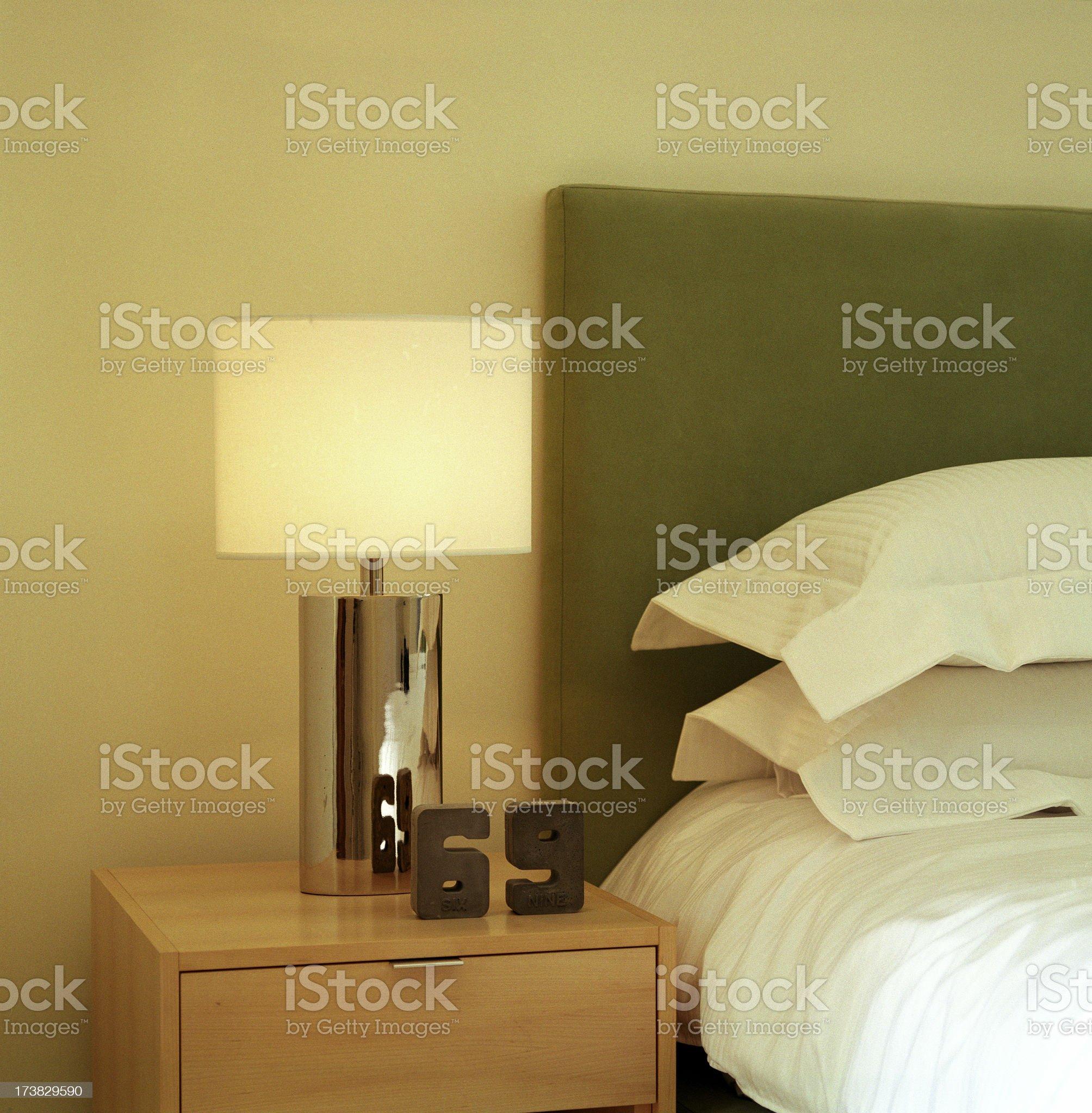 Modern Bedroom detail royalty-free stock photo