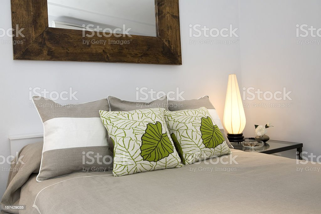 Modern Bedroom Furnishings royalty-free stock photo