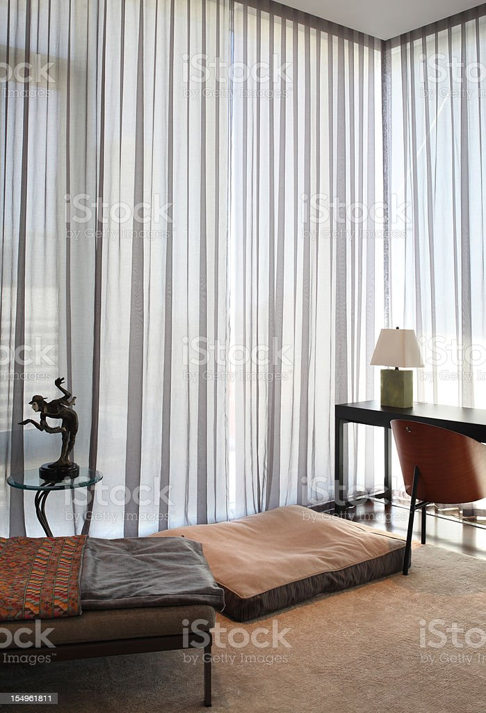 Modern Bedroom  in North American Condo royalty-free stock photo