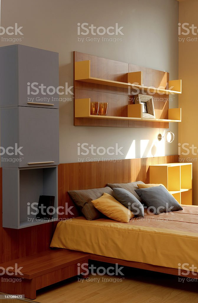Modern bedroom interior design. royalty-free stock photo