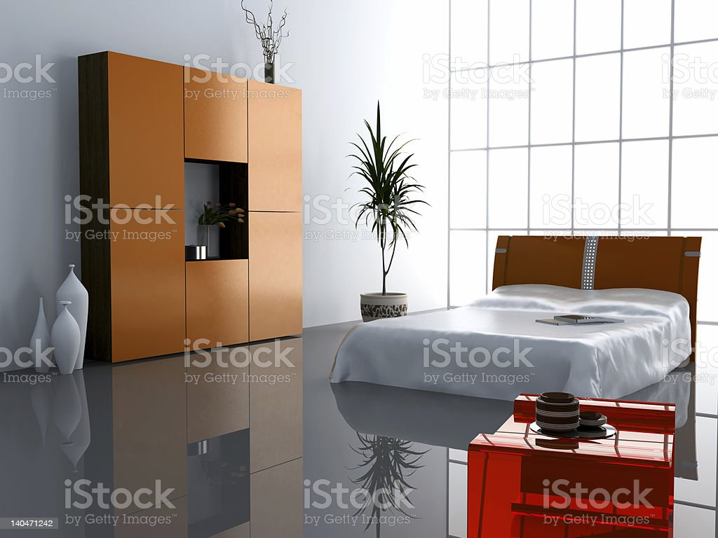 modern bedroom interior royalty-free stock photo