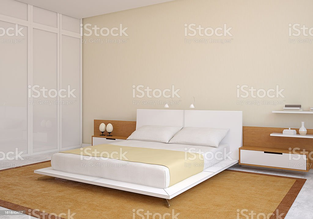 Modern bedroom. royalty-free stock photo