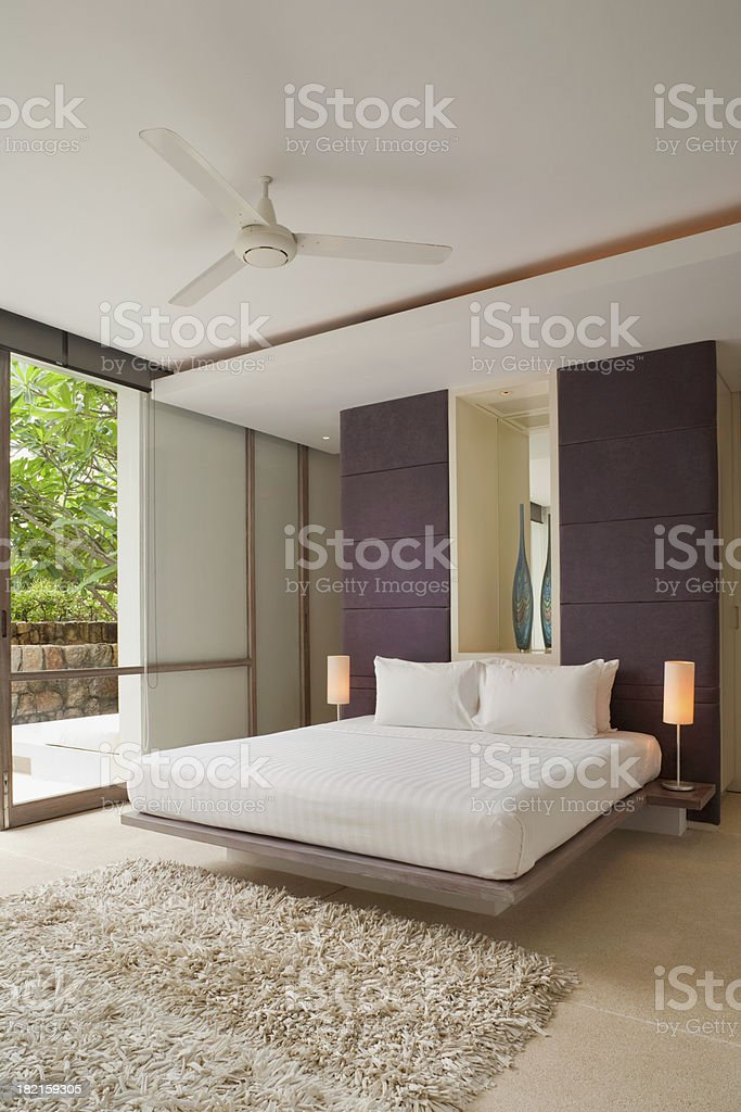 Modern Bedroom stock photo