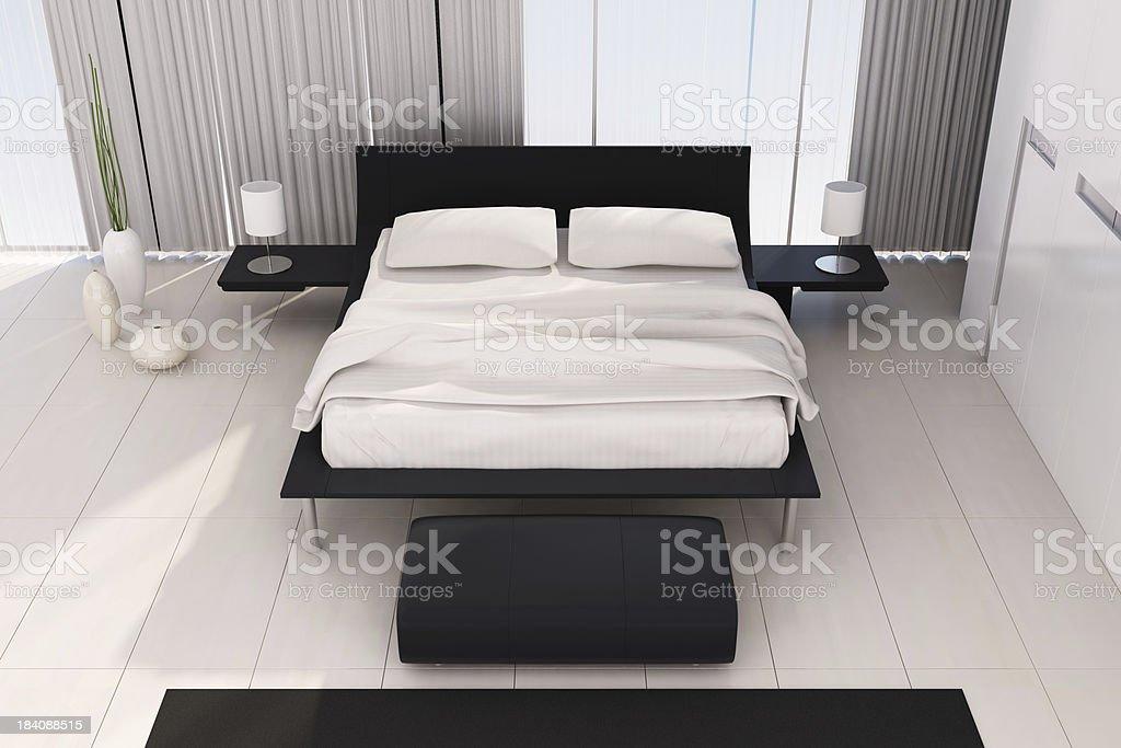 Modern Bedroom royalty-free stock photo