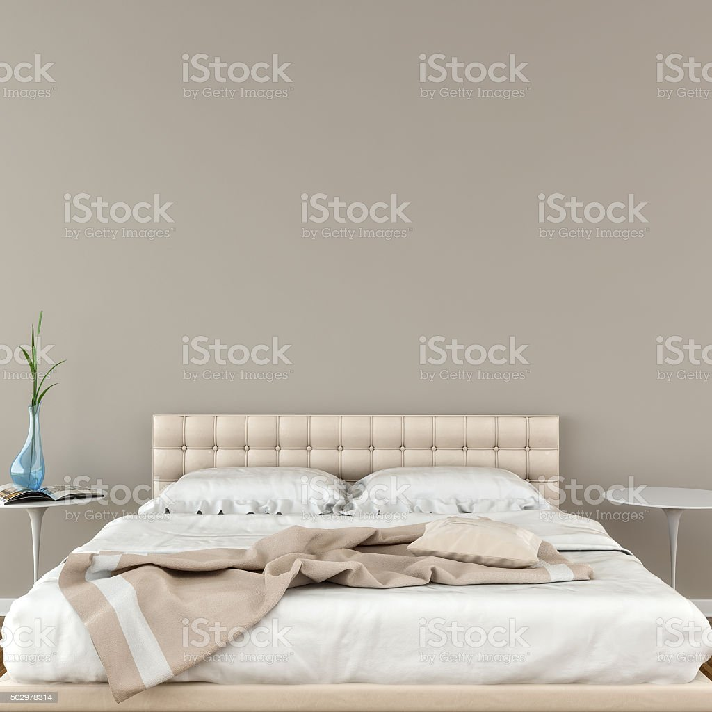 Modern bedroom with decoration stock photo