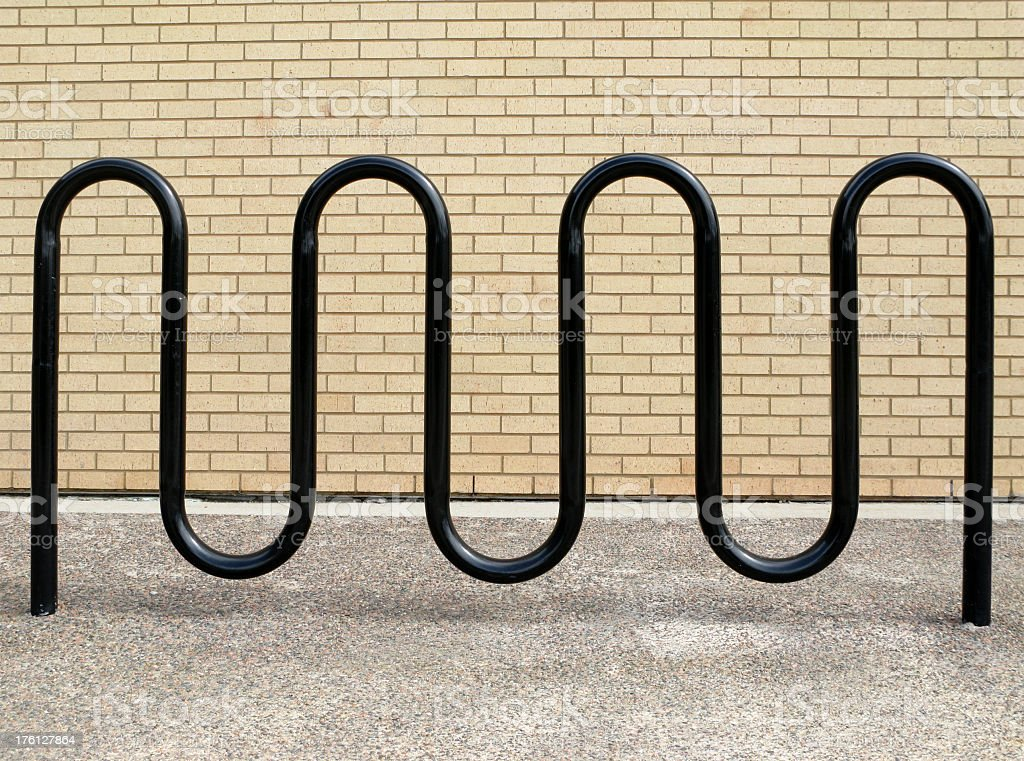 Modern bicycle parking rack. stock photo
