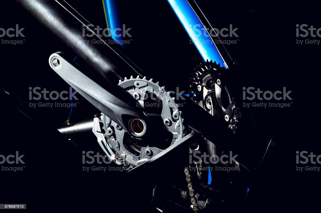 Modern bicycle treadles stock photo