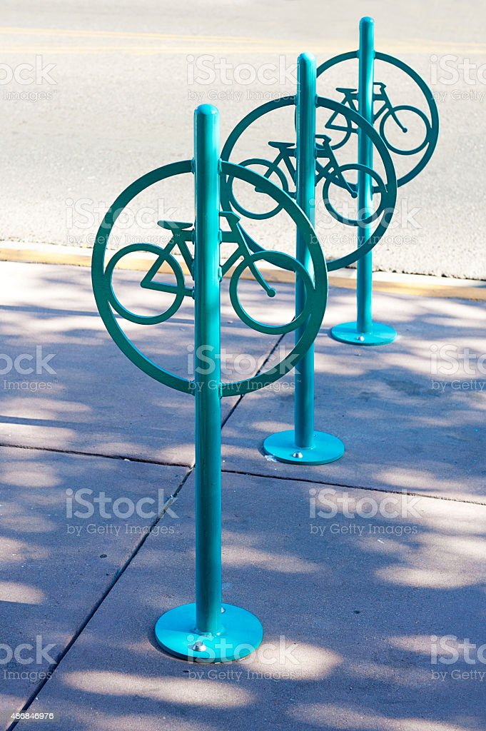 Modern bike rack stock photo