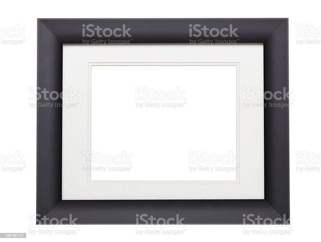 Modern Black photo frame (with clipping path) royalty-free stock photo