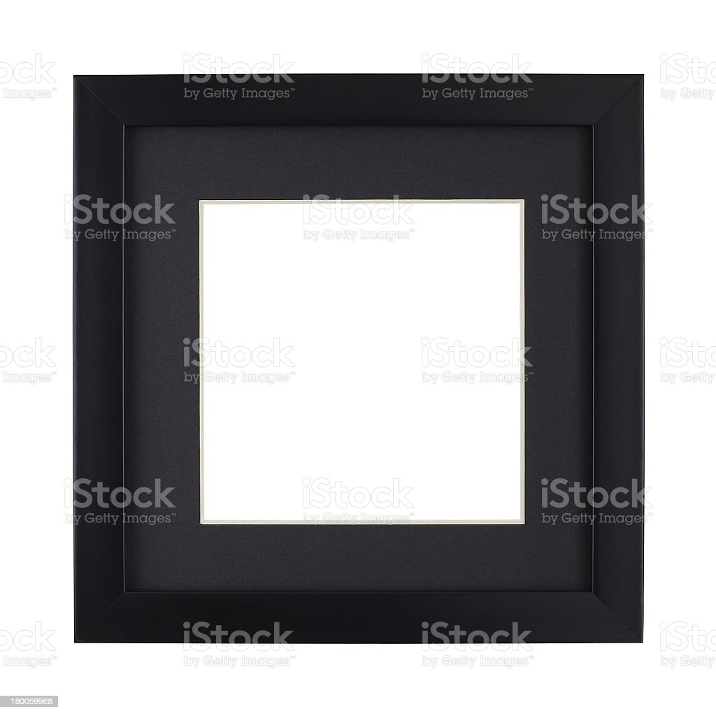 Modern Black picture frame with clipping path royalty-free stock photo