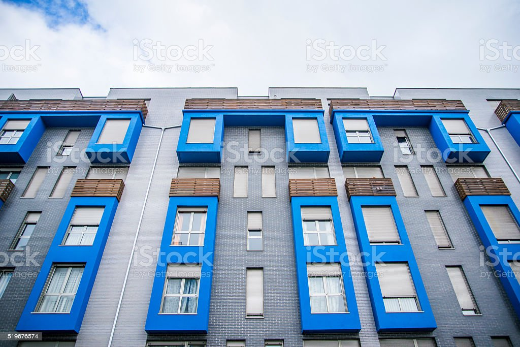 Modern block of apartments stock photo