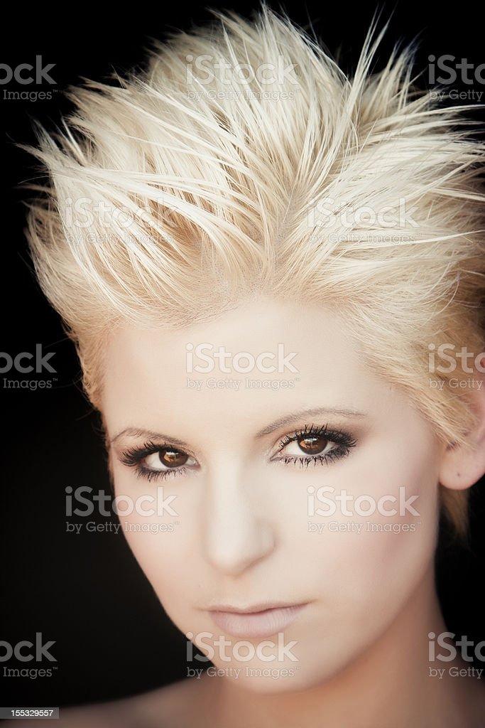 Modern blond woman portrait royalty-free stock photo
