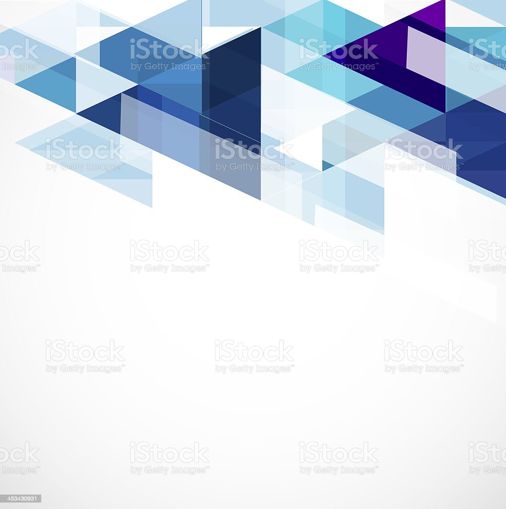 Modern blue geometrical template and space for your text stock photo