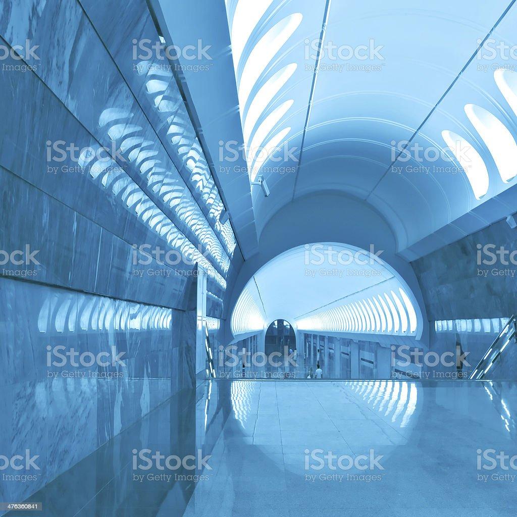 modern blue hall royalty-free stock photo