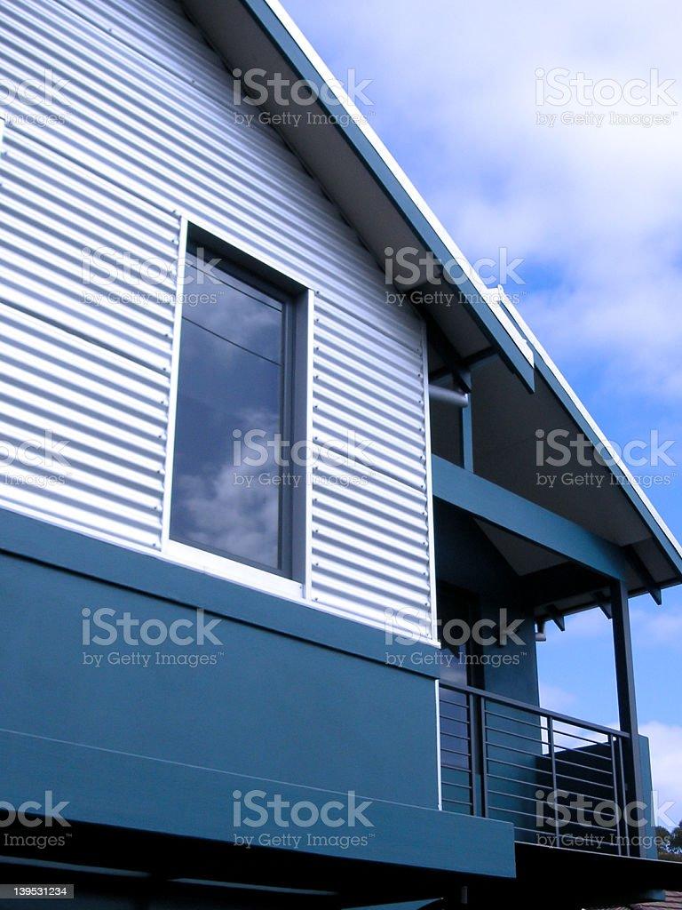 modern blue house royalty-free stock photo
