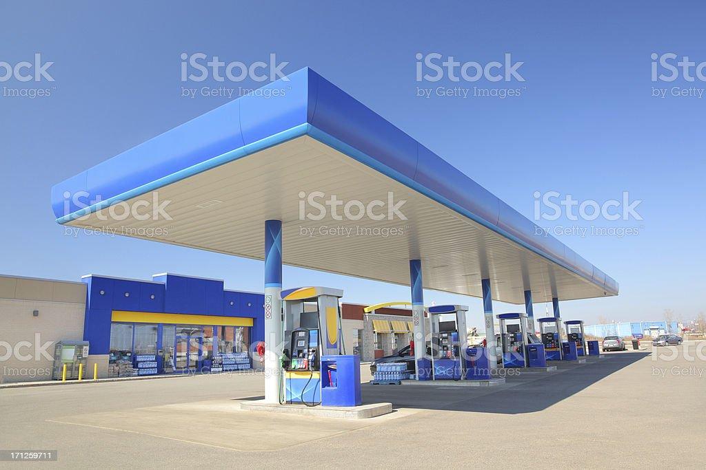 Modern Blue Service Station royalty-free stock photo