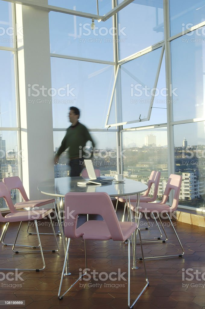 Modern Boardroom Furniture in Office royalty-free stock photo
