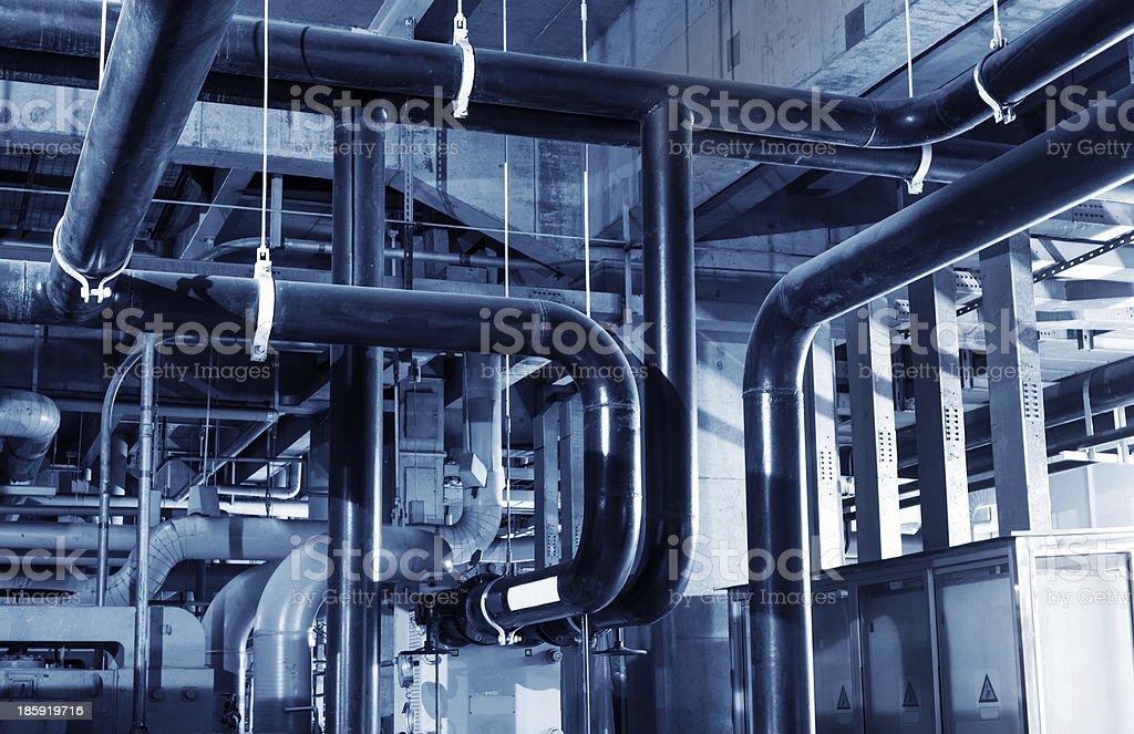Modern boiler room stock photo