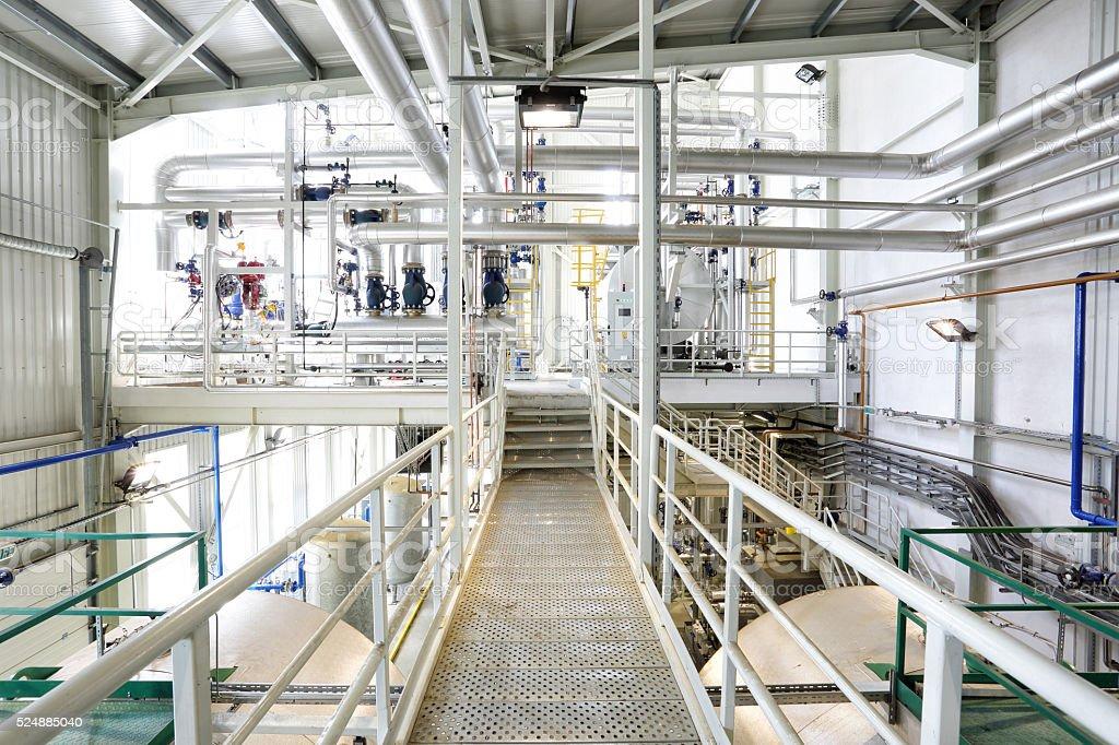Modern boiler system stock photo