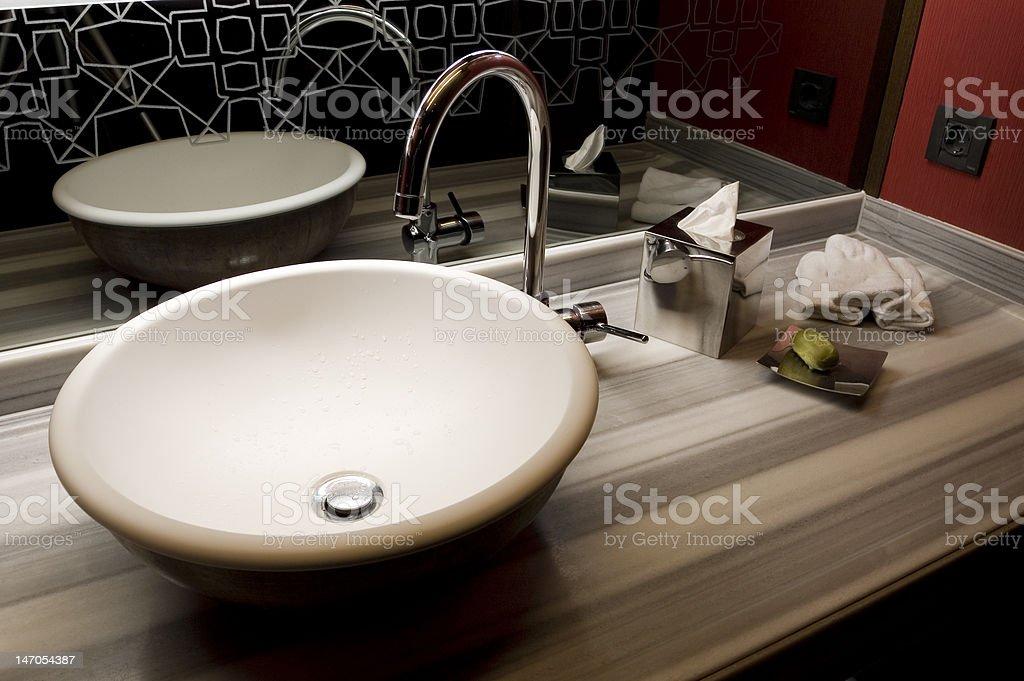Modern Bowl Basin stock photo