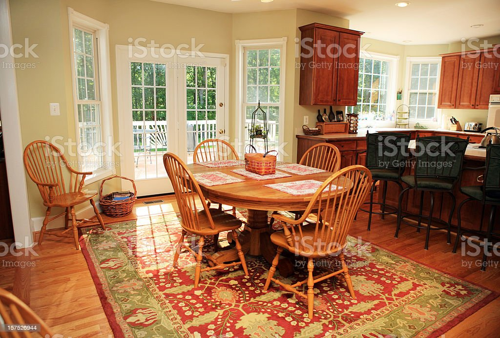 Modern Breakfast Room in House royalty-free stock photo