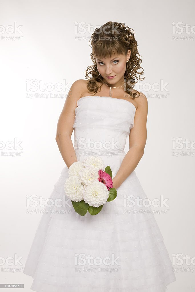 Modern bride royalty-free stock photo