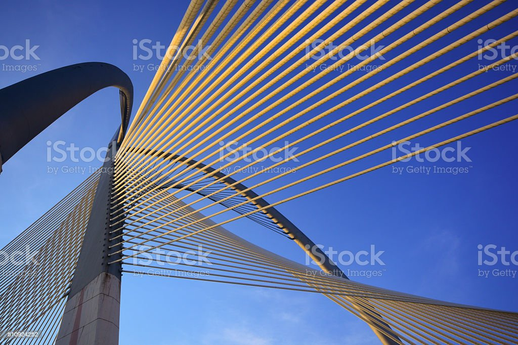 Modern bridge architecture at Putrajaya stock photo