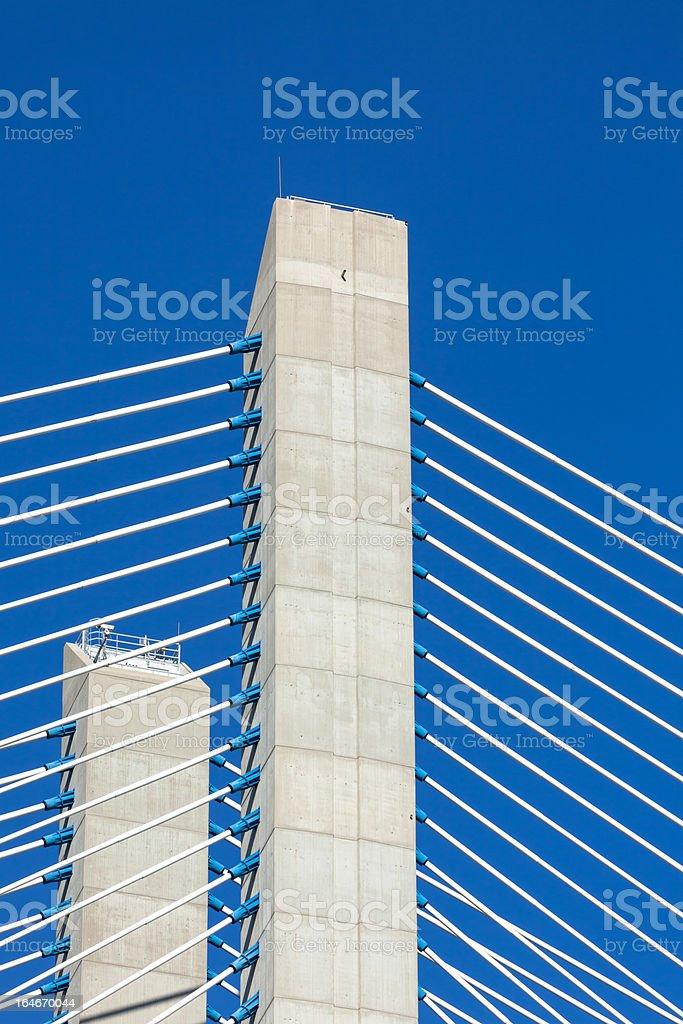 Modern bridge fragment royalty-free stock photo