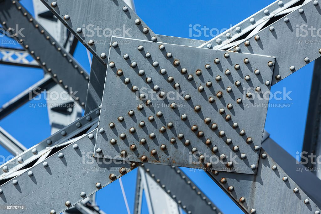 Modern Bridge frame closeup stock photo