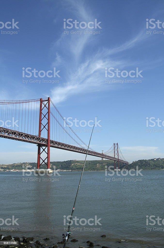 Modern bridge in Lisbon royalty-free stock photo
