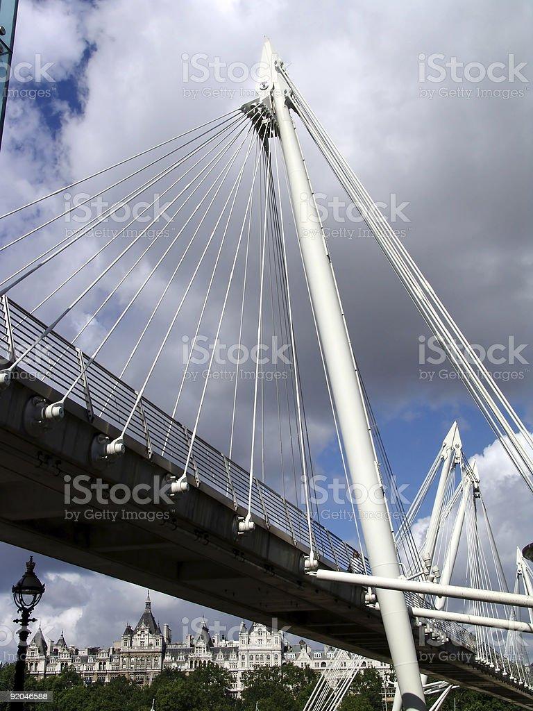 modern bridge in London royalty-free stock photo