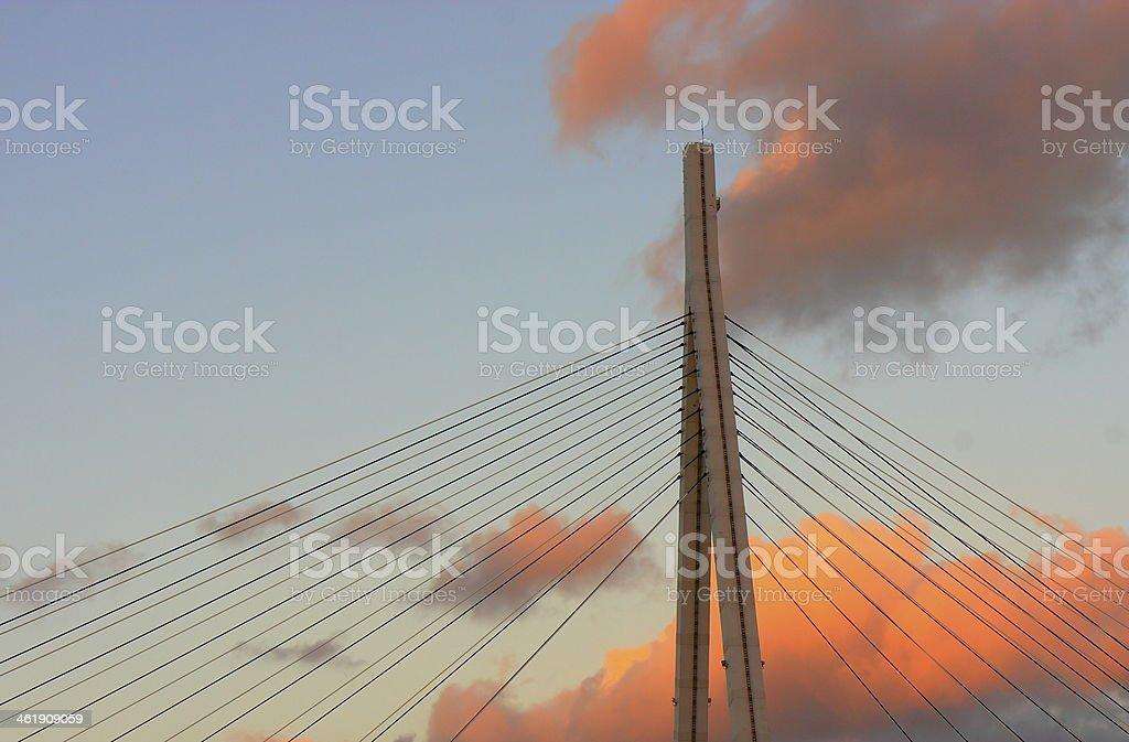 Modern bridge in Osaka-Japan stock photo