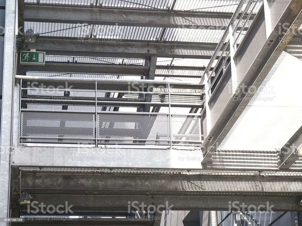 modern bridge royalty-free stock photo