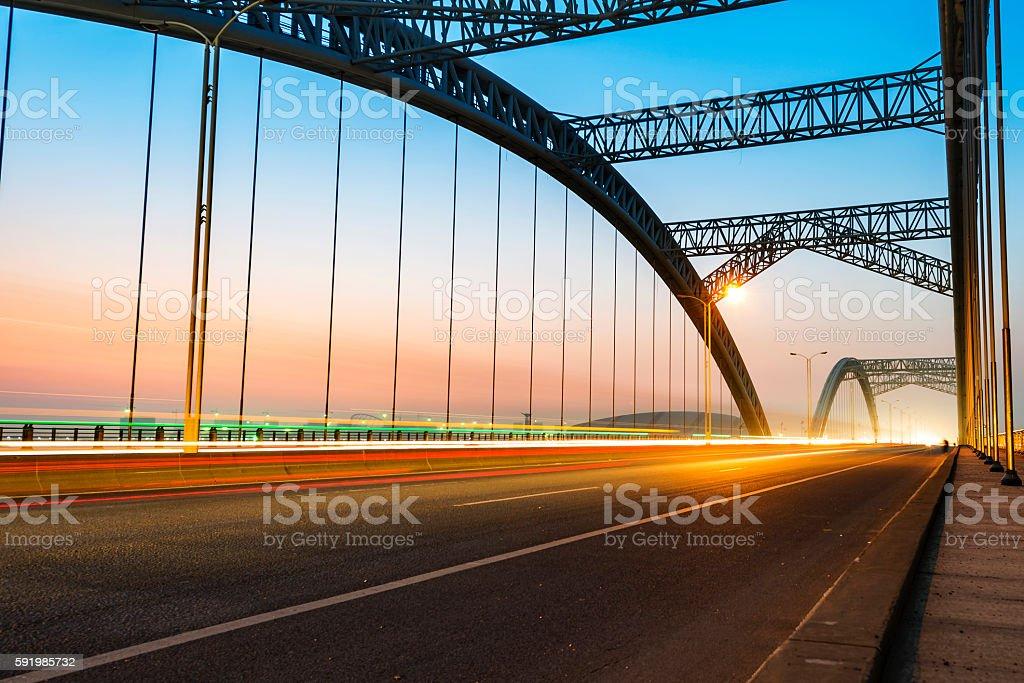 modern bridge stock photo
